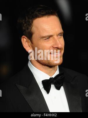Londres, Royaume-Uni. 18 Oct, 2015. Michael Fassbender assiste à une projection de gala 'Steve Jobs' sur la soirée Banque D'Images