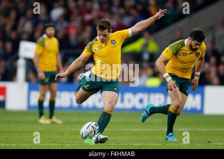Londres, Royaume-Uni. 18 Oct, 2015. Bernard Foley Australie V Ecosse Australie V Ecosse, Coupe du Monde de Rugby Banque D'Images
