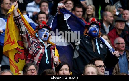 Londres, Royaume-Uni. 18 Oct, 2015. L'Écosse Fans Australie V Ecosse Australie V Ecosse, Coupe du Monde de Rugby Banque D'Images