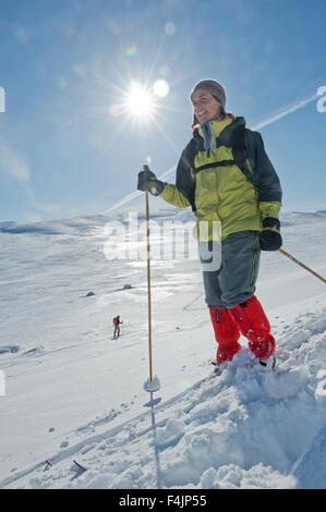 Ski woman Banque D'Images
