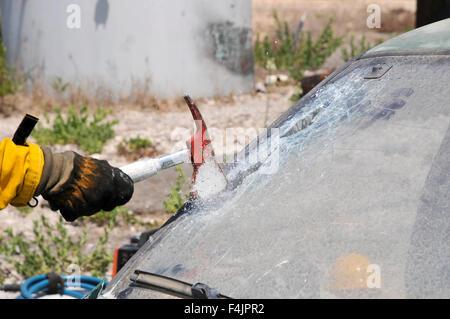 YJWLO Pare-Brise de Voiture Pliable en Forme de Hache de Pompier avec 2 Tailles