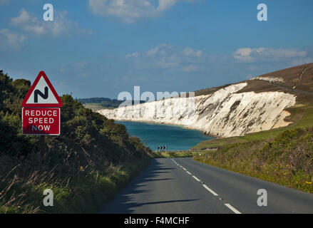 Freshwater Bay, île de Wight, Hampshire, Angleterre Banque D'Images