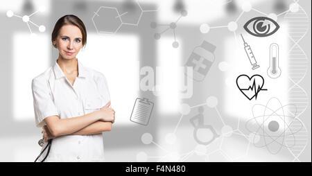Jeune femme médecin Banque D'Images