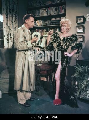 Tom Ewell, Marilyn Monroe / les sept ans démangent 1954 réalisé par Billy Wilder Banque D'Images