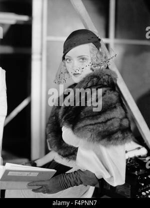 Bette Davis dans les années 30 Banque D'Images