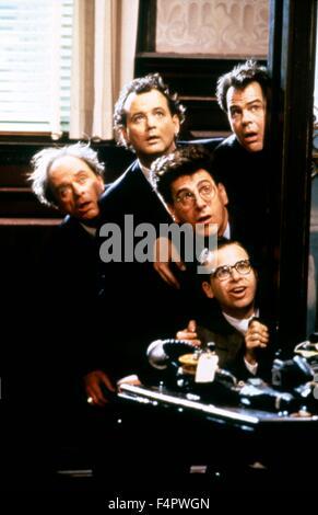 Bill Murray, Dan Aykroyd, Harold Ramis et Rick Moranis / Ghostbusters / 1984 réalisé par Ivan Reitman [Colombie Banque D'Images
