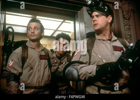Bill Murray, Harold Ramis et Dan Aykroyd / Ghostbusters / 1984 réalisé par Ivan Reitman [Colombie-Britannique] Photos Banque D'Images