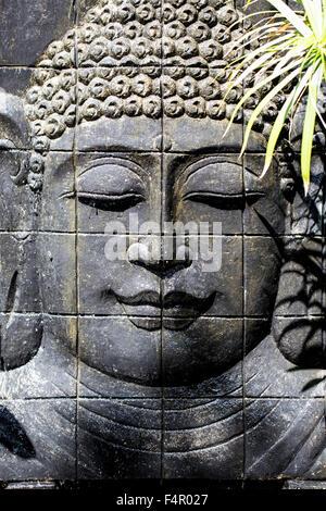 Sculpture Portrait (CAST) de tête Portrait du Bouddha à Bali Indonésie
