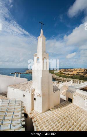 Îles Baléares, Binibeca, village de pêcheurs, l'île de Menorca, Binibeca, vieille, l'Espagne, l'Europe, le printemps, Banque D'Images