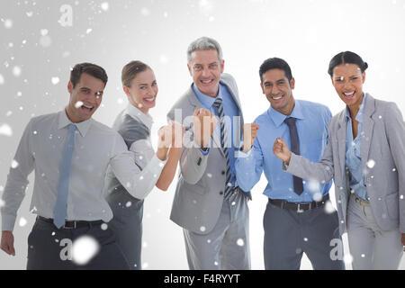 Image composite de portrait de gens d'affaires work Banque D'Images