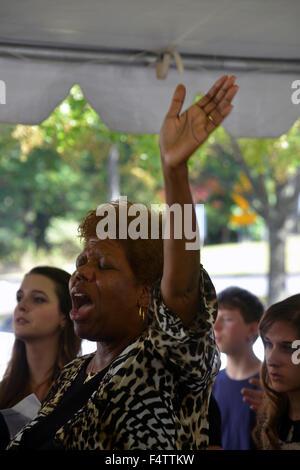Femme plus l'adoration de Dieu, Banque D'Images