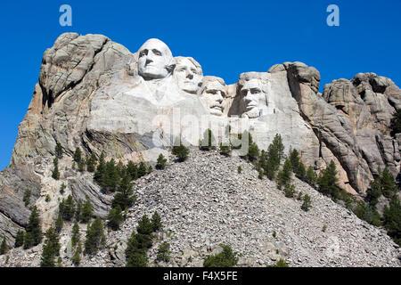 Mount Rushmore National Memorial est situé au sud-ouest du Dakota du Sud, USA. Banque D'Images