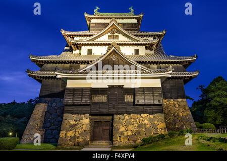 Matsue, Japon au château. Le château est l'un des rares château d'origine conserve dans le pays. Banque D'Images