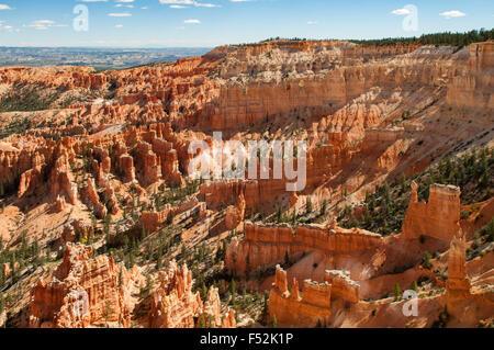 Vue depuis la région de Inspiration Point, Bryce Canyon, Utah, USA Banque D'Images