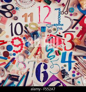 Horloge art Banque D'Images