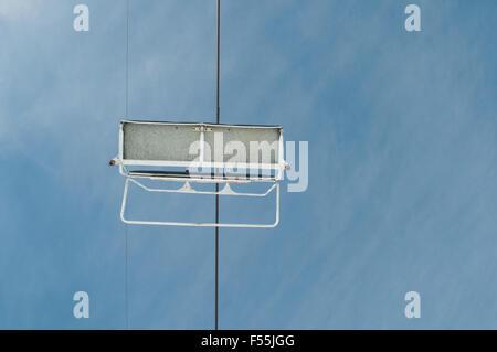Les charrettes de câble vide à Faraya ski resort district Kesrwan Liban Banque D'Images