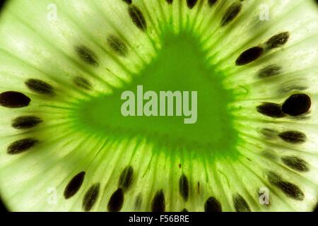 photo macro de kiwi