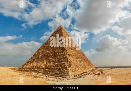 Image de la grande pyramide de Gizeh. Le Caire, Égypte. Banque D'Images