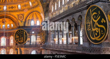À l'intérieur de Sainte-sophie, qui a été une église, une mosquée et est maintenant un musée, UNESCO World Heritage Banque D'Images