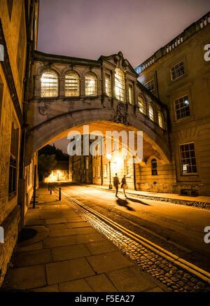 Pont des Soupirs, Oxford, Oxfordshire, Angleterre, Royaume-Uni, Europe Banque D'Images