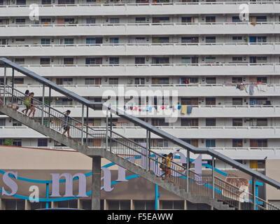 HDB (Housing and Development Board) le logement social à Singapour, en Asie du Sud-Est, l'Asie Banque D'Images