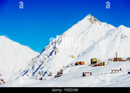 Station de ski de Gudauri, Géorgie, Caucase, Asie centrale, Asie Banque D'Images