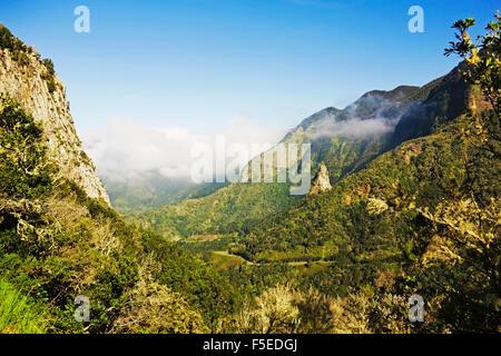 La vallée de Hermigua, Parque Nacional de Garajonay, classé au Patrimoine Mondial de l'UNESCO, La Gomera, Canary Banque D'Images