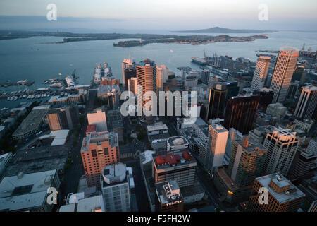 Vue aérienne de Auckland, Nouvelle-Zélande