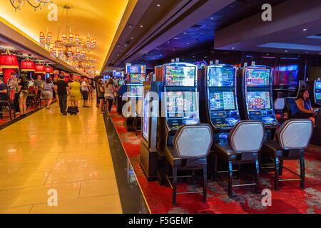 Las Vegas, Nevada. Les Machines à sous Casino Linq. Banque D'Images
