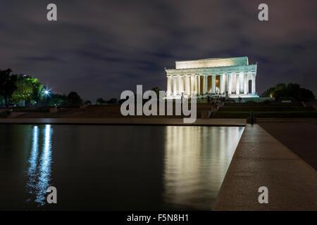 Le Lincoln Memorial à washington dc Banque D'Images