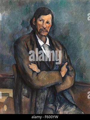 Paul Cézanne - Homme avec bras croisés Banque D'Images