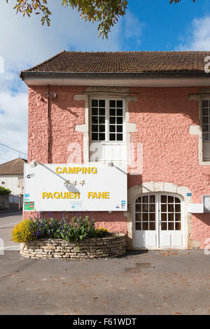 L'entrée du camping Paquier Fane camping à Val de Vesle France
