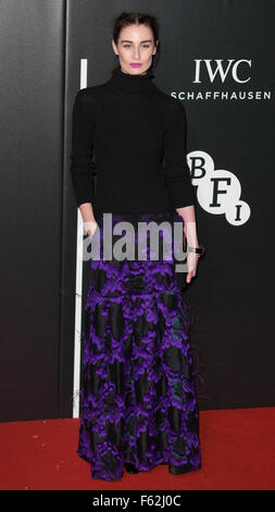 Le British Film Institute's LUMINOUS dîner de gala organisé à Guildhall - Arrivées avec : Erin O'Connor, où : London, Banque D'Images