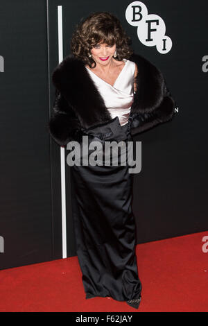 Le British Film Institute's LUMINOUS dîner de gala organisé à Guildhall - Arrivées avec : Joan Collins Où : London, Banque D'Images