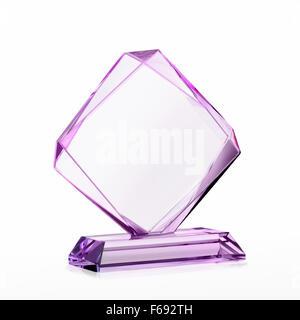Le verre vide pour award isolé sur fond blanc avec un chemin de détourage Banque D'Images