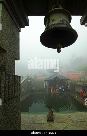 Talakaveri est le lieu de naissance de la rivière Kaveri. Situé dans la colline près de Bhagamandala Brahmagiri, Banque D'Images