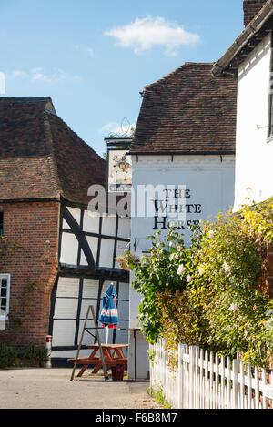 L'Auberge du Cheval Blanc, Chilham Square, Chilham, Kent, Angleterre, Royaume-Uni