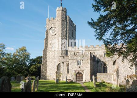 L'église St Mary, Chilham Square, Chilham, Kent, Angleterre, Royaume-Uni