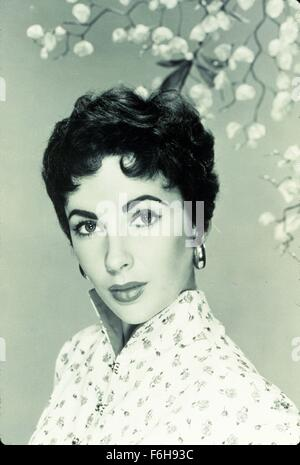 1953, le titre du film: JEUNE FILLE QUI A TOUT, Directeur: RICHARD THORPE, Studio: MGM, Photo: ELIZABETH TAYLOR, Banque D'Images
