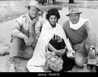 1957, le titre du film: LEGEND OF THE LOST, Réalisateur: HENRY HATHAWAY, Studio: UA, Photo: HENRY HATHAWAY, Banque D'Images
