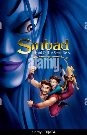 Jul 02, 2003; Hollywood, CA, USA; affiche pour la famille, d'animation, fantastique, aventure ''SSinbad: Legend Banque D'Images