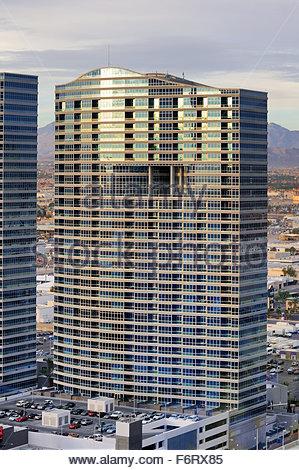 Aperçu du Panorama Towers complexe de la 30e étage du Vdara Hotel and Suites, situé à Las Vegas, Nevada. Banque D'Images