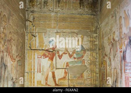 Temple de Seti I; Abydos, Egypte Banque D'Images