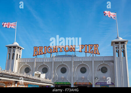 Le Brighton Pier et Marine Palace, East Sussex England Royaume-Uni UK Banque D'Images