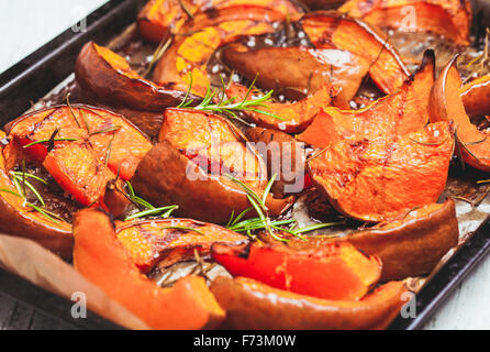 Le potiron cuit au four Banque D'Images