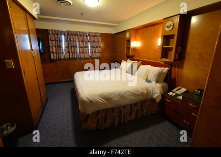 Un état de luxe prix sur le RMS Queen Mary. Banque D'Images