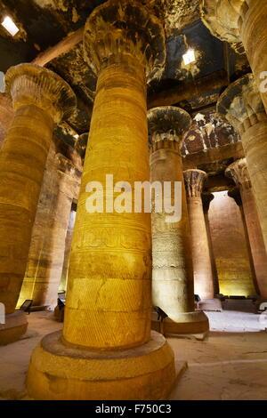 L'Egypte - Edfou, Temple d'Horus Banque D'Images