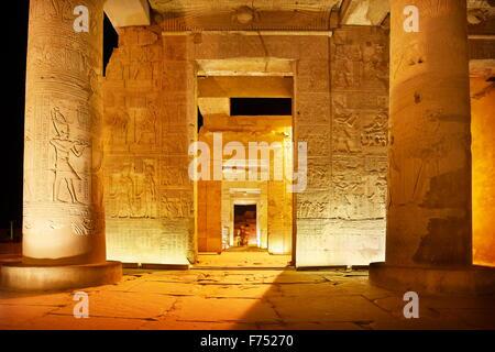 Égypte - Kom Ombo, Temple de Sobek Banque D'Images