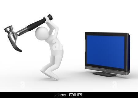 Plat de service technique. Image 3D isolés Banque D'Images