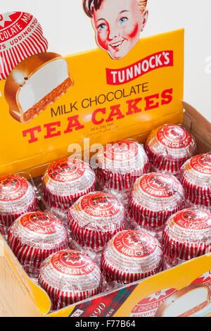Un Teacakes Tunnocks guimauve chocolat biscuit produit par Tunnocks boulangers famille basée en Ecosse Uddingston Banque D'Images